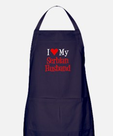 Love My Serbian Husband Apron (dark)