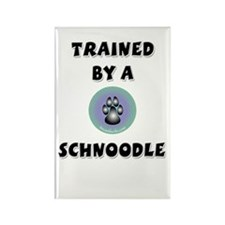 Trained by a Schnoodle Rectangle Magnet (100 pack)