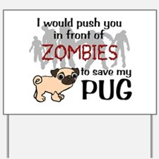 Funny Zombies Yard Sign
