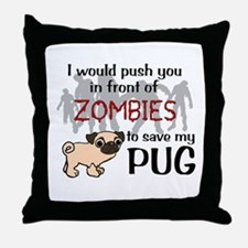 Cute Zombies Throw Pillow