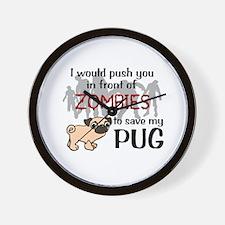 Unique Pugs Wall Clock