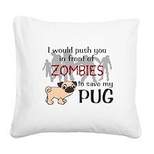 Unique Pug Square Canvas Pillow