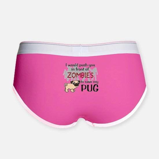 Funny Pug Women's Boy Brief