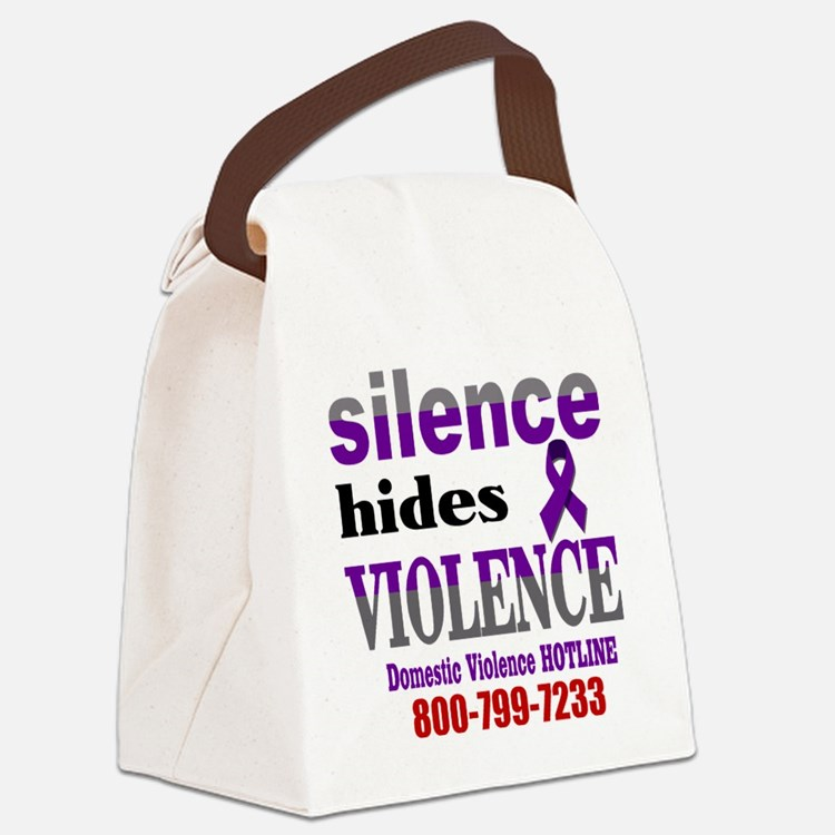 Silence Hides Violence Canvas Lunch Bag