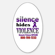 Silence Hides Violence Decal