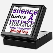 Silence Hides Violence Keepsake Box