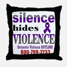 Silence Hides Violence Throw Pillow