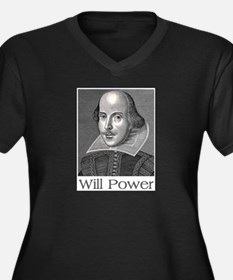 Shakespeare Will Power Plus Size T-Shirt