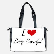 I Love Being Powerful Artistic Design Diaper Bag