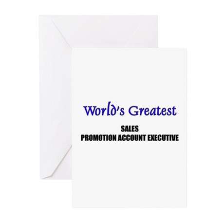 Worlds Greatest SALES MANAGER Greeting Cards (Pk o