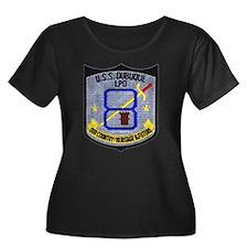 USS Dubuque Women's Plus Size Scoop Neck Dark Tee