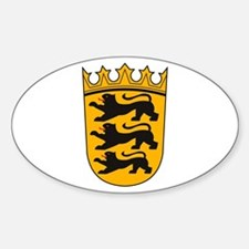Baden Wurttemberg Coat of Arm Oval Decal