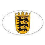 Baden Wurttemberg Coat of Arm Oval Sticker