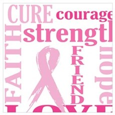 Breast Cancer Friend Canvas Art