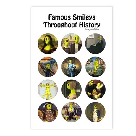 Historical Smileys Postcards (Package of 8)
