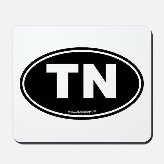 Tennessee TN Euro Oval Mousepad