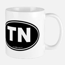 Tennessee TN Euro Oval Mug