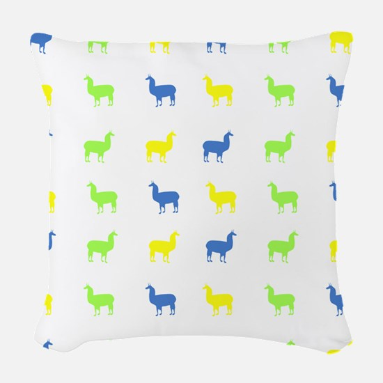 Llamas Woven Throw Pillow