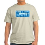 This is what a Zionist Looks Light T-Shirt