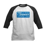This is what a Zionist Looks Kids Baseball Jersey