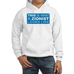 This is what a Zionist Looks Hooded Sweatshirt