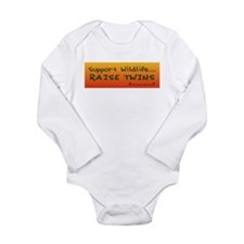 Cute Twin Long Sleeve Infant Bodysuit