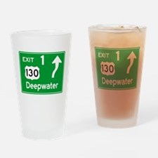 NJTP Logo-free Exit 1 Deepwater Drinking Glass