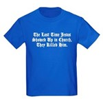 Jesus in Church Kids Dark T-Shirt