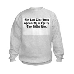 Jesus in Church Kids Sweatshirt