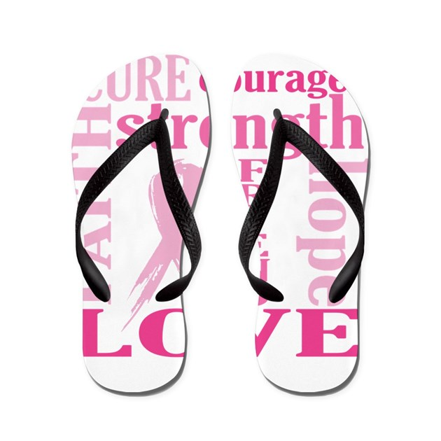Breast Cancer Friend Support Flip Flops by HopeFaithLove