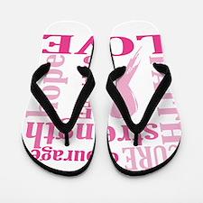Breast Cancer Friend Support Flip Flops