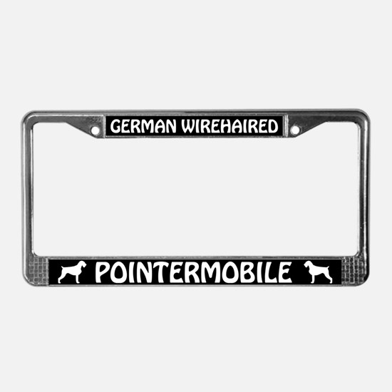 German Wirehaired Pointermobile License Frame