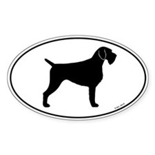 German Wirehaired Pointer Oval Decal