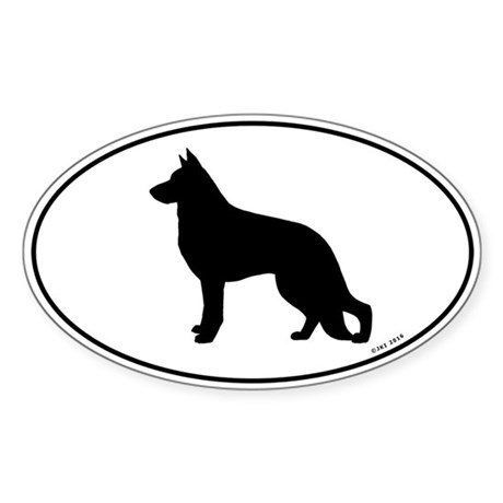 German Shepherd Sticker (Oval)