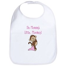 Mommy's Monkey(pink) Bib