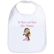 Nana, Papa Monkey(pink) Bib