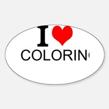 I Love Coloring Decal