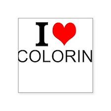 I Love Coloring Sticker
