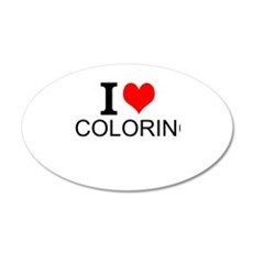 I Love Coloring Wall Decal