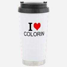 I Love Coloring Travel Mug
