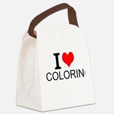 I Love Coloring Canvas Lunch Bag