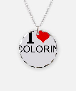 I Love Coloring Necklace