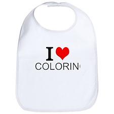 I Love Coloring Bib