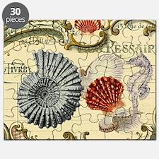 elegant paris beach seashells  Puzzle