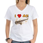 I *HEART* My Sax Women's V-Neck T-Shirt