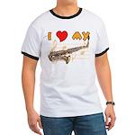 I *HEART* My Sax Ringer T