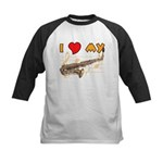 I *HEART* My Sax Kids Baseball Jersey