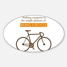 The Pleasure Of Riding A Bicycle Decal