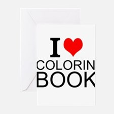I Love Coloring Books Greeting Cards