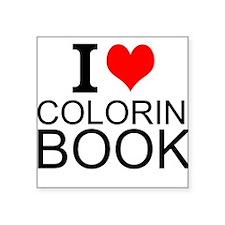 I Love Coloring Books Sticker